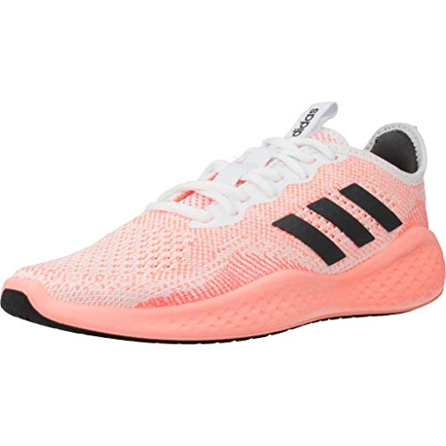 Adidas FLUIDFLOW, Zapatillas para Correr Mujer, FTWR White/Grey Six/Signal Coral, 40 EU ⭐