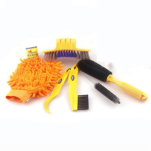 LQHZ Chain Brush Bike Cleaning Kit Bicycle Cycling Chain Cleaner Scrubber Brushes Mountain Bike Wash Tool Set Bicycle Repair Tools Accessories Cleaning Tools (Color : 03)