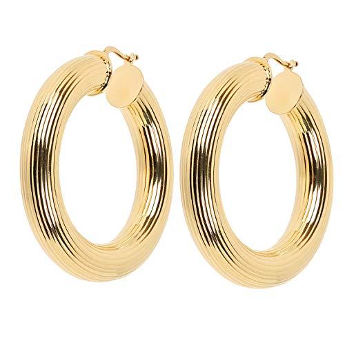 Aleksander Sternen Bronze Star große Ohrringe 44mm aus Bronze 2 Mikron vergoldet für Damen