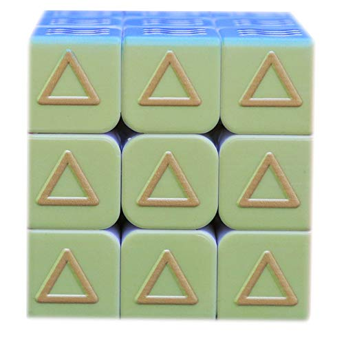 Amyove Zauberwürfel Geometrie Zauberwürfel 3x3x3 Blind Braille Fingerprint Geschwindigkeit Puzzle Cube 3D Relief Lernspielzeug für Kinder