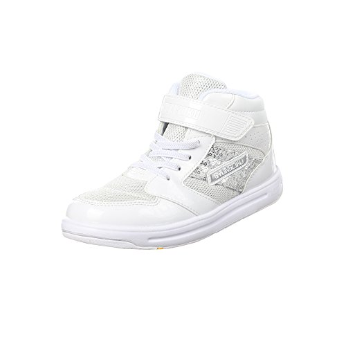 SYUNSOKU Girl/'s Shoes Lightweight with Translucent Outsole Cinderella Fit School Kid/'s Shoes