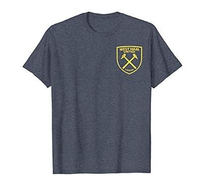 West Ham United Pocket Crest T-shirt Heather Blue