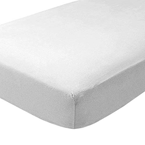 Bare Home Flannel Fitted Bottom Sheets (2 Pack) 100% Cotton, Velvety Soft Heavyweight - Double Brushed Flannel - Deep Pocket (Twin XL, White)
