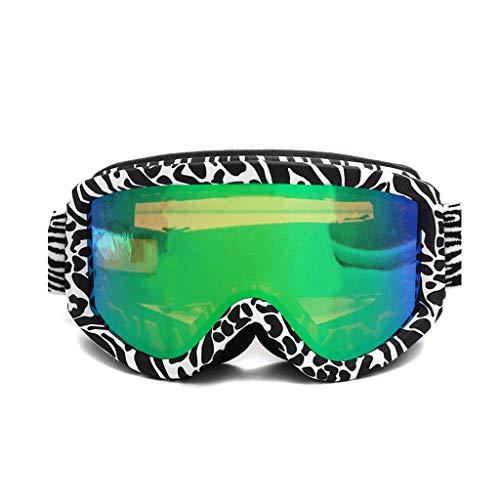 RWX Gafas De Esquí De La Diadema Ajustable, Gafas Anti-Ultravioleta Anti-Niebla De Doble Capa, Gafas De Esquí Deportivas Al Aire Libre Masculinas Y Femeninas