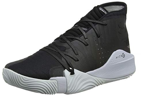 Under Armour UA Spawn Mid, Scarpe da Basket Uomo, Nero (Black/MOD Gray/Black (004), 45.5 EU