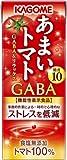 カゴメ あまいトマト GABA&リラックス 195ml 紙パック 72本 (24本入×3 まとめ買い)