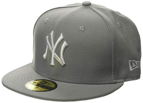 fanandmore New York Yankees Cappy 59FIFTY MLB Basic Grau, 7 3/8