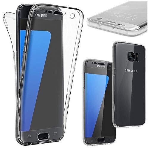 ebestStar - kompatibel mit Samsung Galaxy S7 Edge Hülle SM-G935F G935 Integrales Silikongel Gehäuse Handyhülle Schutzhülle Full TPU Hülle Cover, Transparent [Phone: 150.9 x 72.6 x 7.7mm, 5.5'']