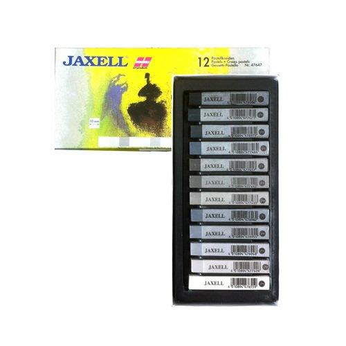 NEU Jaxell-Pastellkreiden 12er, Grautöne [Spielzeug]