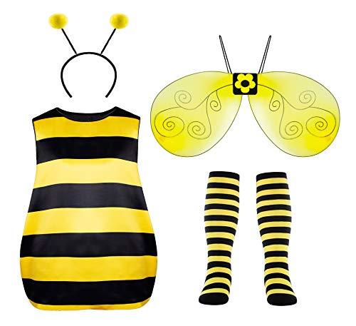 Seawhisper Faschingskostüme Damen Bienen Kostüm Karneval Halloween Kostüm 32 34 36