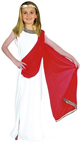 Fiori Paolo-Puella Roma Antica Costume Bambina, Bianco, L (7-9 anni), 61229.L