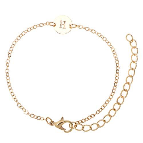 Holibanna Lettre Pendentif Bracelet Bijoux Ornements Valentines Day DIY Alphabet Cadeau pour Couple Amis de La Famille Petite Amie (H)