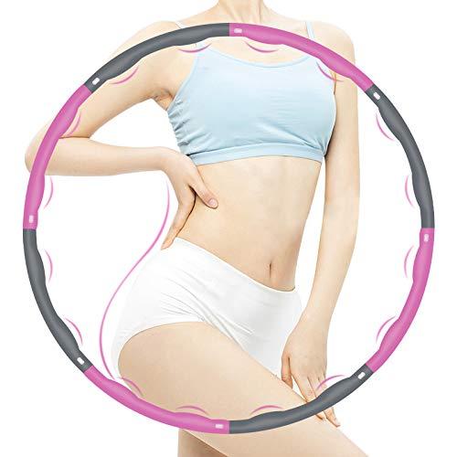 HAIGOU Hula Hoop Reifen Erwachsene für Kinder Erwachsene, Zusammenklappbare & Einstellbare Fitness Ubung Hula Hoop zur Gewichtsreduktion 1,2 kg
