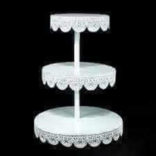 Unique 3 Tier White Metal Eyelet Cupcake or Treat stands Party decorations for all occasions