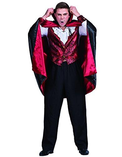 EraSpooky Disfraz Vampire de los Hombres Disfraces Capa Cabo Cosplay Fiesta de Halloween Traje Divertido para Adultos