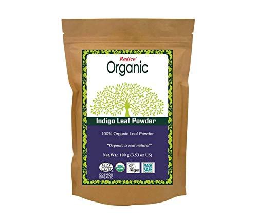 Polvo de hojas de índigo 100 g de polvo (Negro)