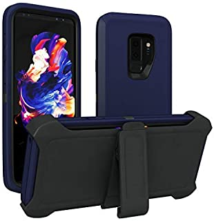 Galaxy S9+ Plus Case, ToughBox [Armor Series] [Shock Proof] [Navy | Black] for Samsung Galaxy S9+ Plus Case [Comes with Holster & Belt Clip] [Fits OtterBox Defender Series Belt Clip Cover]