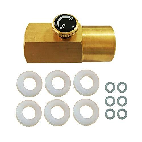 Mangobuy Messing CO2 Adapter für Paintball CO2-Zylinderfüllung W21.8-14 bis CGA 320 Paintball Nachfüllung
