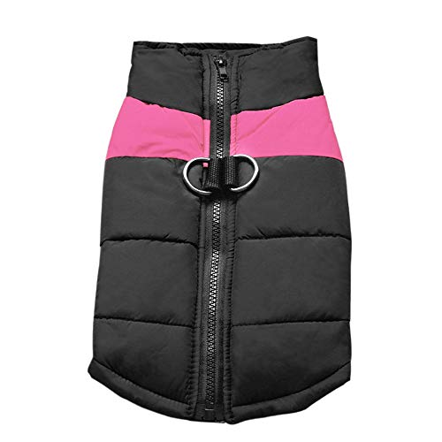 Didog Cold Weather Dog Warm Vest Jacket Coats,Pet Winter Clothes for Small Medium Large Dogs,8, Pink,3XL Size