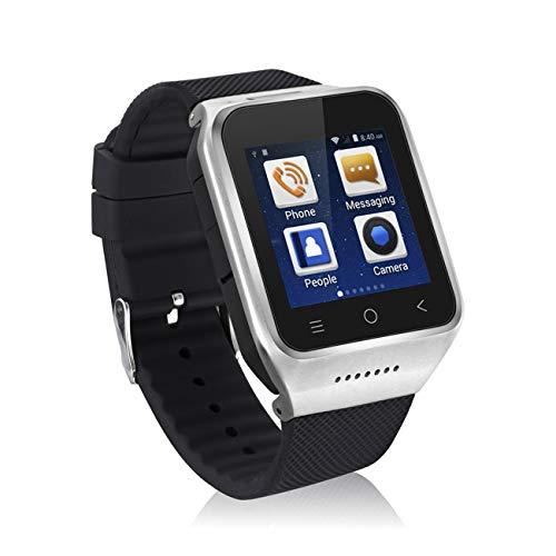 Elviray Schwarz/Goldenes/Silber Eingebauter GPS-Chip Ultra Clear Screen 3 Millionen Pixel S8 Zgpax Intelligente Armbanduhr 1G CPU Dual Core für Android4.4