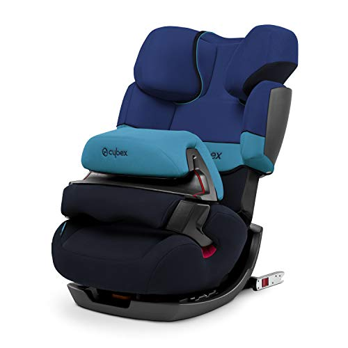 CYBEX Silver 2-in-1 Kinder-Autositz Pallas-Fix, Für Autos mit und ohne ISOFIX, Gruppe 1/2/3 (9-36 kg), Ab ca. 9 Monate bis ca. 12 Jahre, Blue Moon