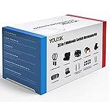 22 in 1 Accessories Kit for Nintendo Switch -Younik Carrying Case/Wheel/Racket/Gel Guards/Screen...