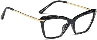 BOZEVON Women Glasses - Cat Eye Lightweight Crystal Frame Classic Vintage Clear Lenses Non Prescription Retro Glasses Ladies Fashion Accessories Eyewear