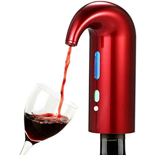 Gesh Aireador de vino eléctrico, dispensador automático de botellas de vino, decantador de vino inteligente, impermeable y duradero, ahorra tiempo