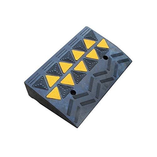 Oprijplaat autolampen, driehoekig, slijtvast, van stevig rubber, antislip, buitenhelling in het wegverkeer, mat, afmetingen: 48 x 30 x 11 cm 48 * 30 * 11CM