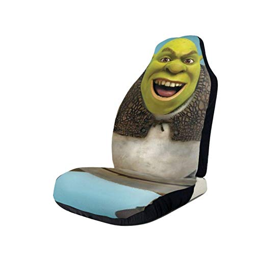 DAWN&ROSE Car Seat Covers Movie Shrek Front Seat Protector 3D Printed Front Universal Seats Non-Slip Covers, Fit Most Cars, Sedan, SUV Truck