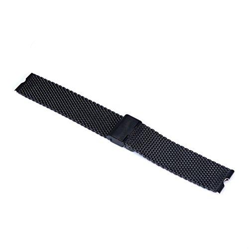 fenrad Nero Acciaio Inox 22mm Cinturino Braccialetto per Motorola moto 360 Smartwatch Watch Orologio Strap Bracelet con Attrezzo--(Maglia,Black)