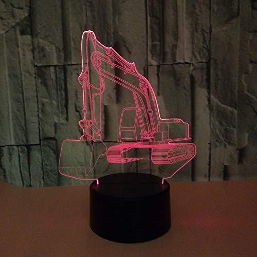 3D Nachtlicht Illusion Lampe Led Excavator Deko Licht Stimmungslicht Nachttischlampe 16Farben Ändern Touch Switch Schreibtisch Lampen Geburtstagsgeschenk Weihnachten