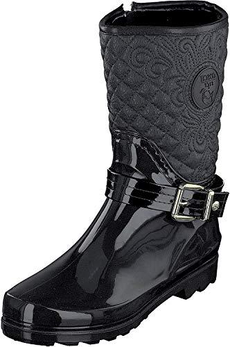 GOSCH SHOES Sylt - Damen Gummistiefel Naturkautschuk 7102-503-9 Black (37, Black)