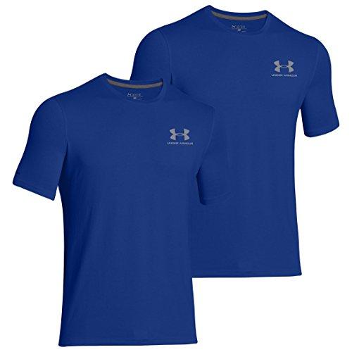 Under Armour Herren HeatGear Loose Charged Cotton Sportstyle Tee 2er Pack Royalblau-Royalblau 400 - M