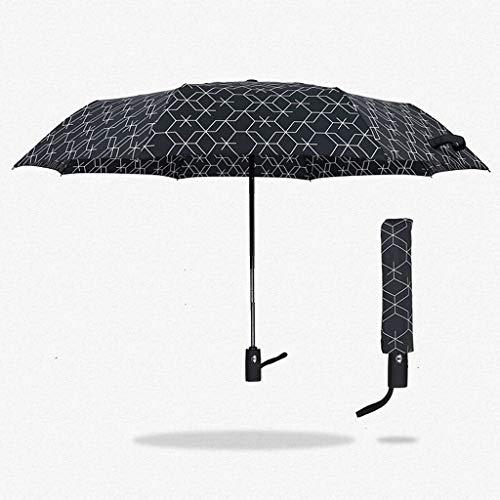 WEI Self-Made Self-Made Doppelschirm Männer 'S Dreifach Creative Business Gitter Gentleman Sunny Regenschirm,CCC