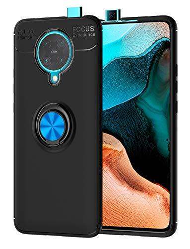 SORAKA Cover per Xiaomi Redmi K30 PRO Zoom con Anello Rotante a 360 Gradi,Custodia in Silicone Morbido Cover Anti-Impronta Ultrasottile con Piastra Metallica per Supporto Auto Smartphone Magnetico
