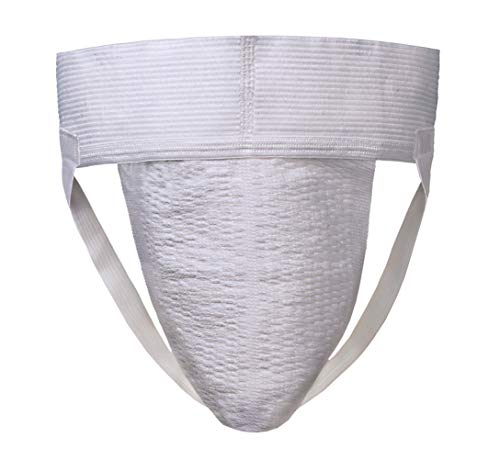 Players Men's Athletic Supporter/Jockstrap (Big & Tall) - 1X White