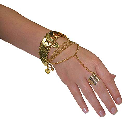 Forum Novelties BA1381 Hand Jewellery, Women, Gold, One Siz