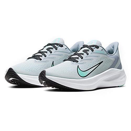 Nike Womens Zoom Winflo 7 Casual Running Shoe (Sky Grey/Black-Obsidian Mist, Numeric_10)