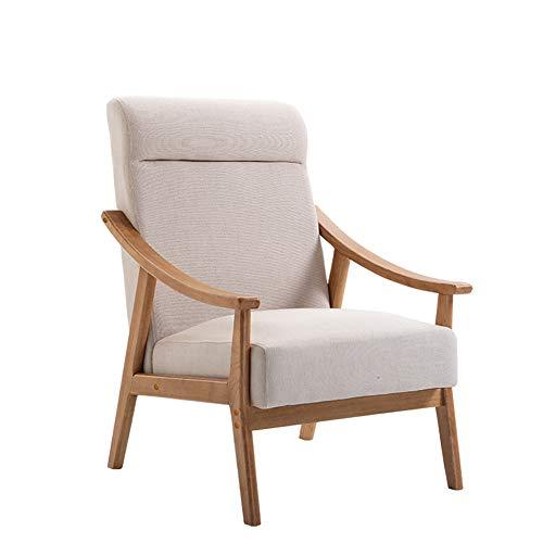 TKLLOVE Chaise Longue, Chaise Simple Paresseuse Portative D'extérieur Inclinable en Bois Plein à La Maison De Sofa Approprié Au Salon Solide De Chambre à Coucher Balcon-épaisse