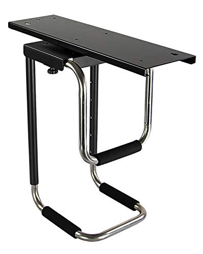Mount-It! Heavy Duty Under Desk Computer Mount, Adjustable CPU Holder with Sliding Tracks and 360 Deg Swivel for Desktop Computer Towers Up to 10 Inches Wide and 22 Inches High, 66 Lb Load Capacity