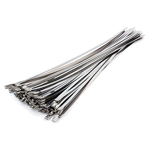 Bridas de cable de acero inoxidable de 50 x 500 mm, brida...