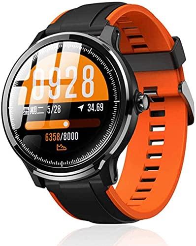 Reloj inteligente personas IP68 impermeable 60 días de largo en espera 1 3 pulgadas pantalla táctil completa frecuencia cardíaca presión arterial reloj inteligente-D