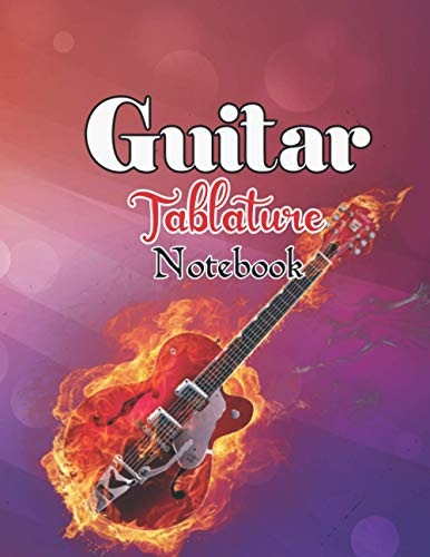 Guitar Tablature Notebook: sardine designs music Tablature Staff Music Paper for Guitar Players, Musicians, Teachers and Students | 8.5 X 11 - 110 Pages