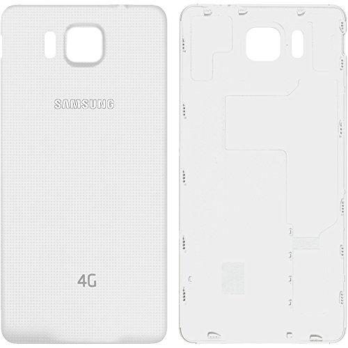 Original Samsung Akkudeckel White/weiß mit 4G-Logo für Samsung G850F Galaxy Alpha (Akkufachdeckel, Batterieabdeckung, Rückseite, Back-Cover) - GH98-34643D