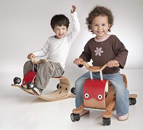 Wishbone Flip 2in1 in Red, Rock and Roll Ride On for Boys and Girls, Ages 12 months and 2 to 5 years