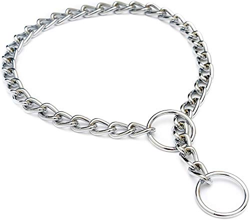 Louvra Collare per Cani Catena in Metallo Ferro Collare Serpente per Cane Taglia Grande Media Piccola (S,M,L)