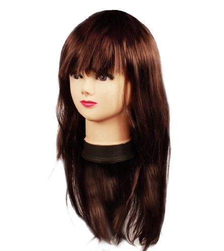 HAAC - Parrucca lunga per carnevale, colore: Marrone
