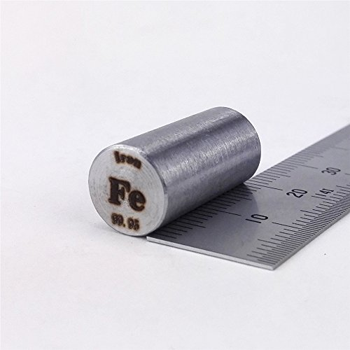 Metallstange aus reinem Eisen, 99,95%, 12g, 10mm Durchmesser x 20mm lang