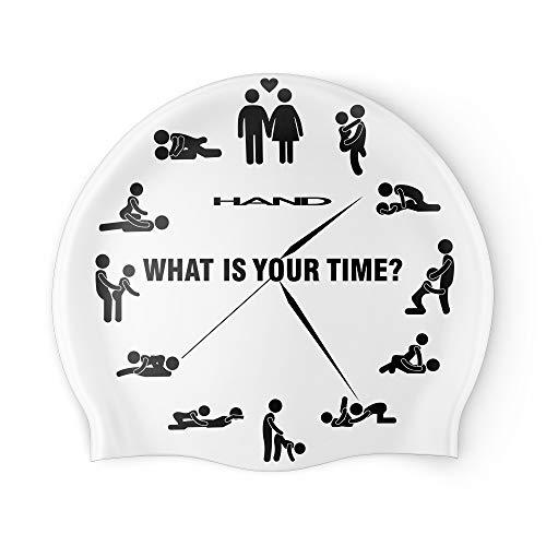 HAND SPORT Whats Your Time, Cuffia in Silicone, Cuffia Piscina, Cuffia Nuoto, Taglia Unica